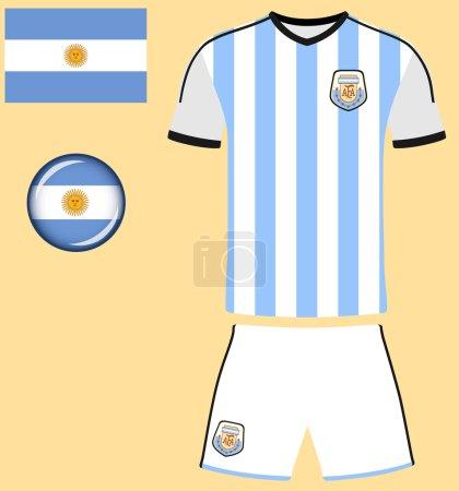 Argentina Football Jersey Icon