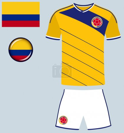 Colombia Football Jersey Icon
