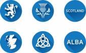 Scotland Flat Icon Set