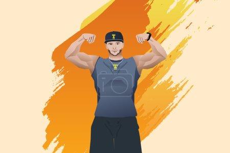 Vector illustration,Body builde