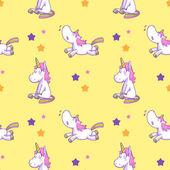 cute unicorn seamless pattern vector 04