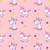 Cute unicorn seamless pattern vector 03