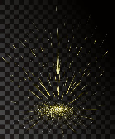 Effet de vecteur. Effet pour le jeu. Animation de l'effet d'exploser. Dessin animé explosion cadres