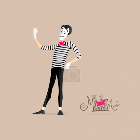A Mime performing a pantomime called taking a self...