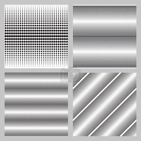 Monochrome elegant seamless pattern in black and w...
