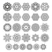 Decorative design elements Circle ornament Vector set