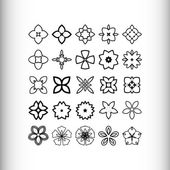 Decorative design elements Circle ornament Set of 25 vector circular patterns florets snowflakes asterisks for decoration of your works