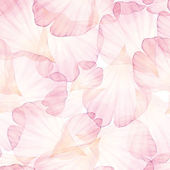 Watercolor Seamless pattern Pink flower petals Vectorized watercolor drawing