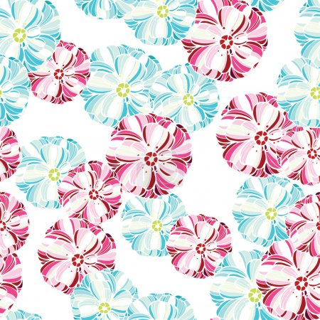 floral pattern with pastel flowers