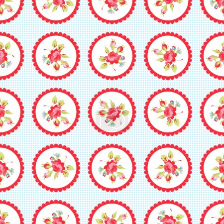 Seamless Pattern with little roses