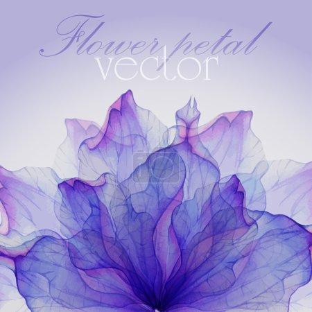 Illustration pour Aquarelle Modèle sans couture avec des pétales de fleurs pourpres. Dessin aquarelle vectorisé . - image libre de droit