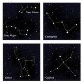 Set of constellations Vector space and stars illustration