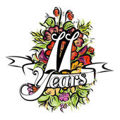 11 Years Greeting Card Design