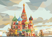 St Basil's Cathedral  on the red square in Moscow Russia