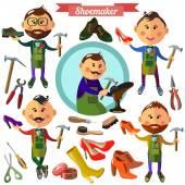 Shoemaker profession flat characters