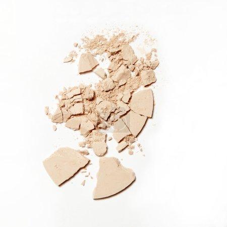crumbled crushed broken natural powder