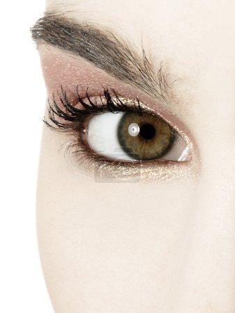 eye with natural make up