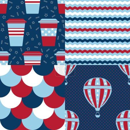 Set of USA Patterns
