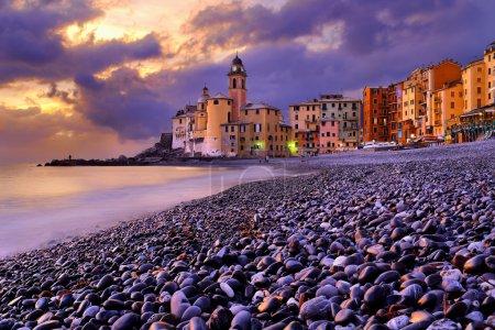 Camogli in sunset, Italy