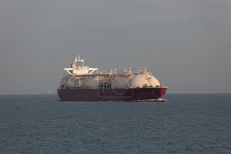 LNG tanker in transit