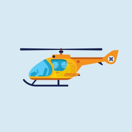 Illustration for Vector illustration of flat helicopter - Royalty Free Image