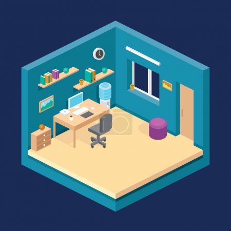 Illustration for Vector illustration of isometric room - Royalty Free Image