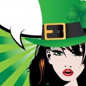 Saint Patrick's Day with irish girl