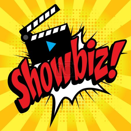 "Pop Art comics icon ""Showbiz!""."