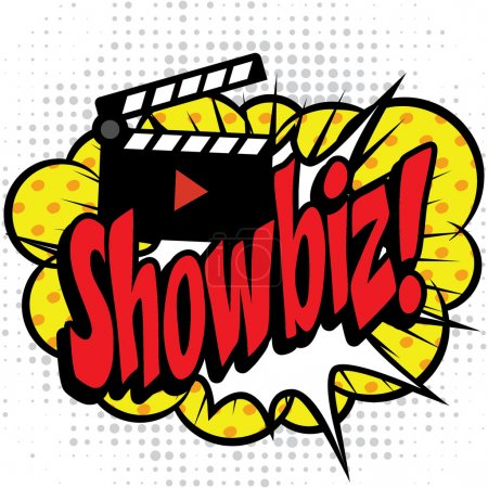 "Pop Art comics icon ""Showbiz!""."