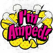 i am amped comic lettering