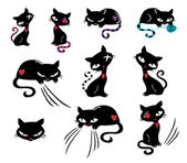 Black Cats Vector Illustration