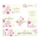 Four Floral Patterns vector illustrations