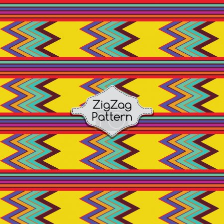 Illustration for Abstract Geometric Pattern. Technological futuristic design. ZigZag's background. Vector illustration - Royalty Free Image