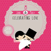 Wedding couple Cartoon card