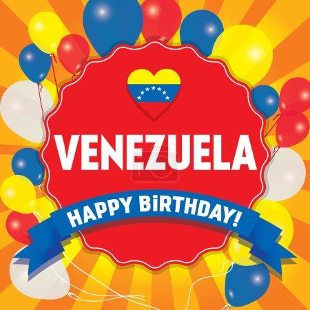 Happy Birthday Venezuela - Happy Independence Day