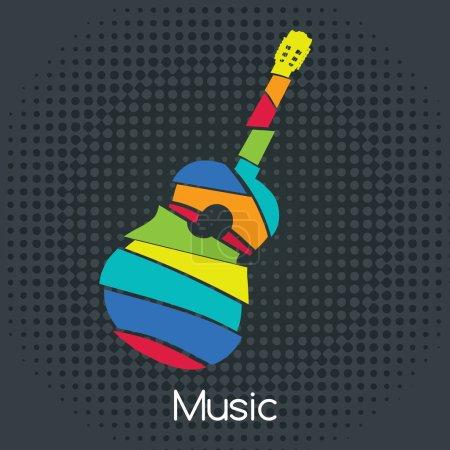 Acoustic Retro Guitar