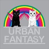 Urban Fantasy. cute unicorn cats