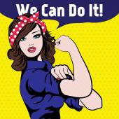 We Can Do It Iconic woman's fist symbol