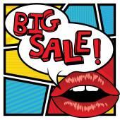 Pop art lips - bubble Final Sale.