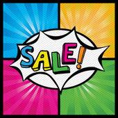 Pop art Colorful Sale Bubble.