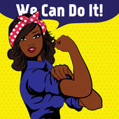 We Can Do It. Iconic woman's fist symbol of female power