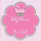 Baby girl shower invitation.