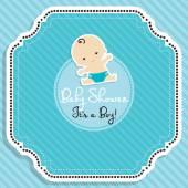 Baby boy shower invitation.