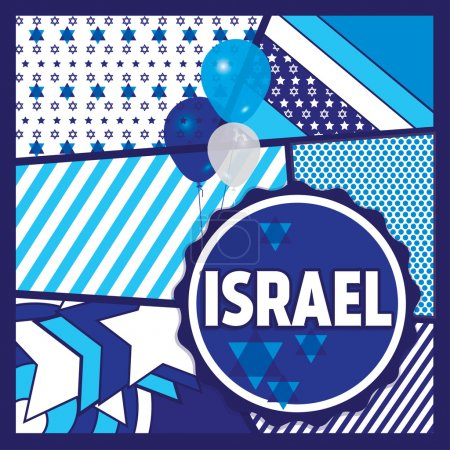 Flag of Israel. Celebration and gifts.