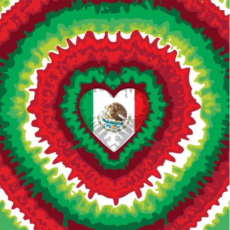 Flag of Mexico. Independence Day.