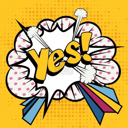 "Pop Art comics icon ""Yes!""."