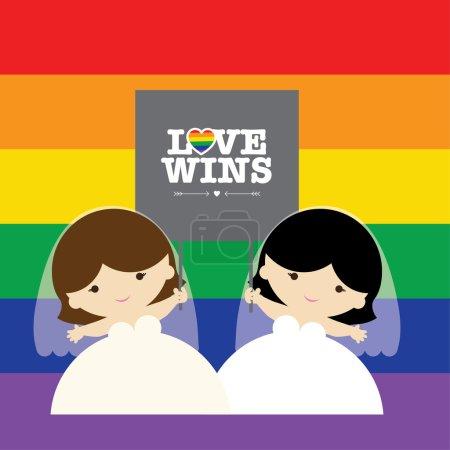 Same sex marriage. LOVE WINS