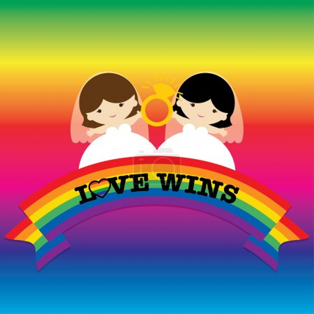 Same sex marriage. LOVE WINS