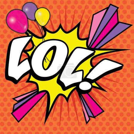 "Illustration for Pop Art comics icon ""LOL!"". Speech Bubble Vector illustration. - Royalty Free Image"