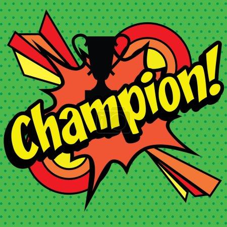 "Pop Art comics icon ""Champion!"""